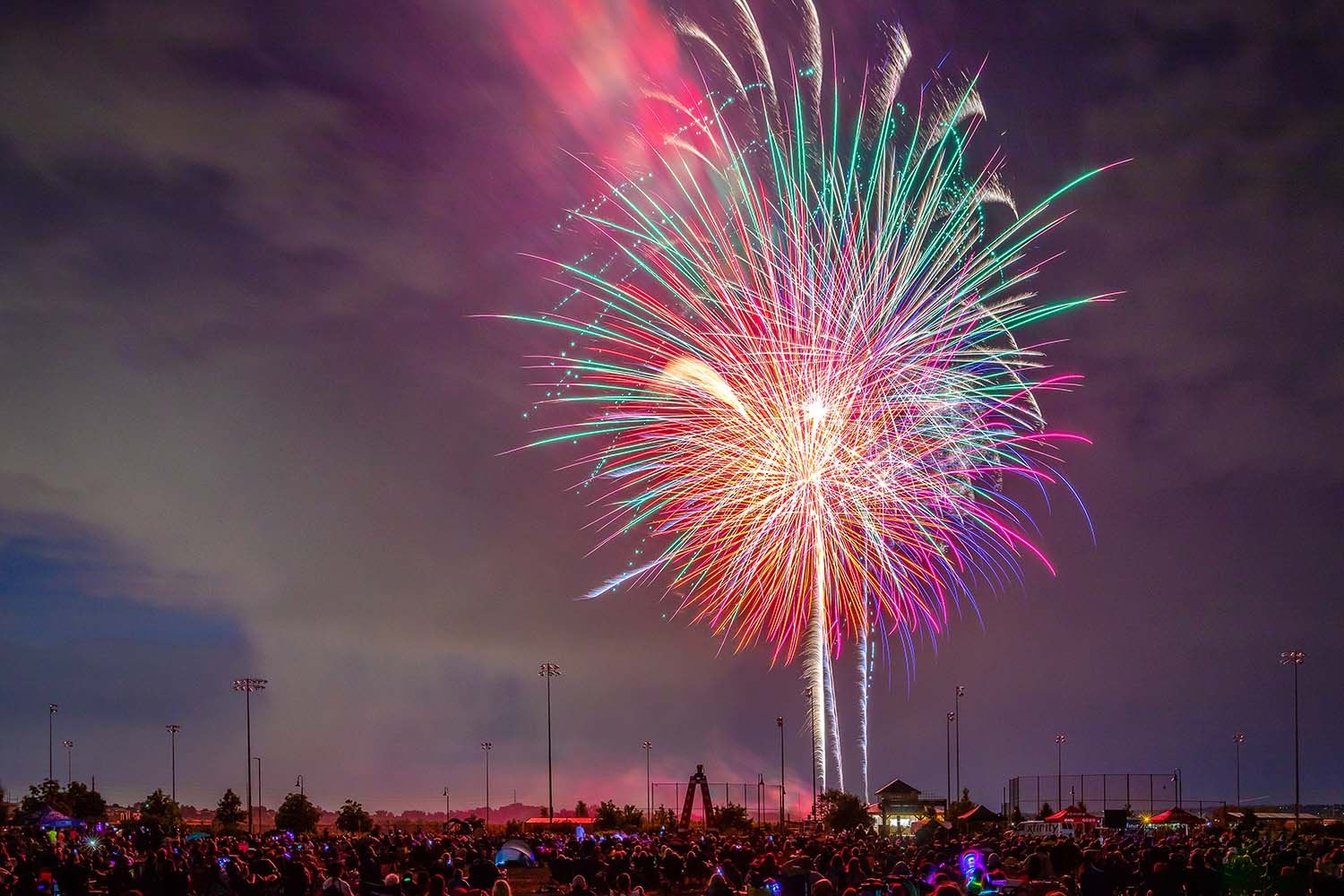 an estimated 12000 spectators filled salisbury park for the 2018 parker stars and stripes independence day celebration on wednesday july 4