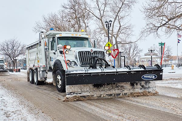 Town of Parker Snow Plows Clearing Town Snow Routes