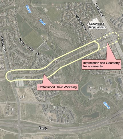Cottonwood Drive Widening Project Vicinity Map