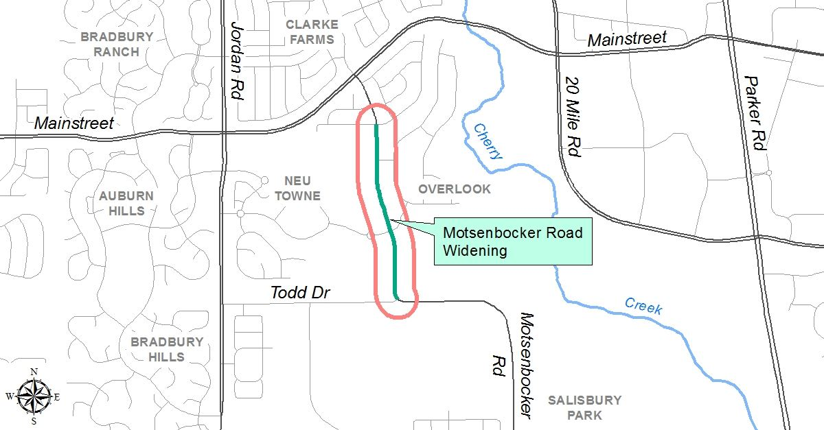 Motsenbocker Widening Project Map