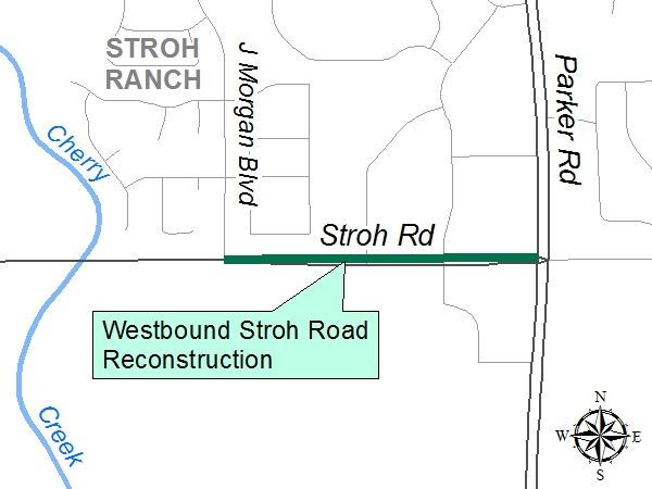 Stroh Road Reconstruction Project Map