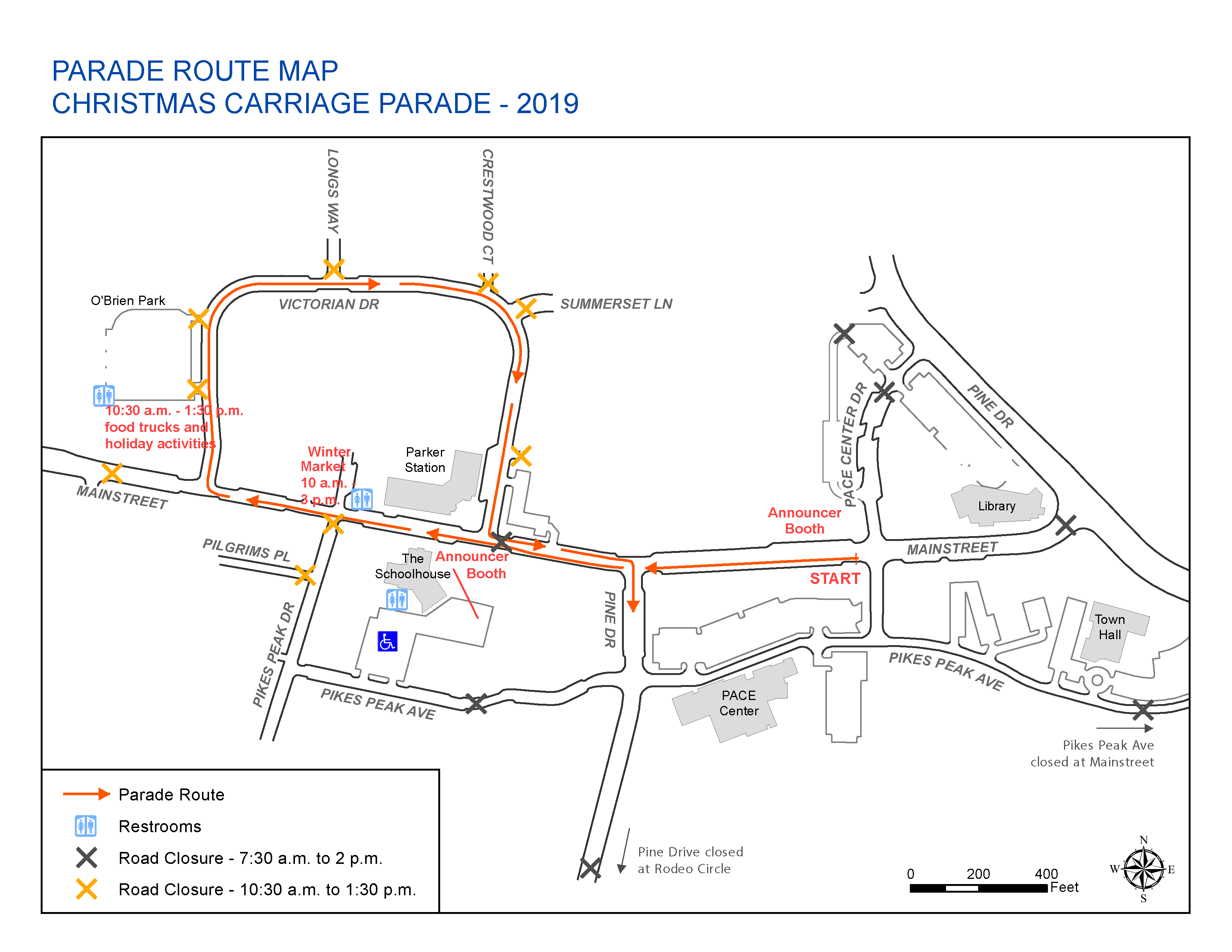 Parade Route Map 2019